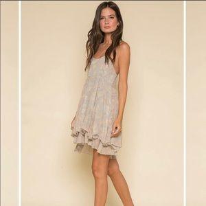 RAGA Metallic Thread Printed Dress.